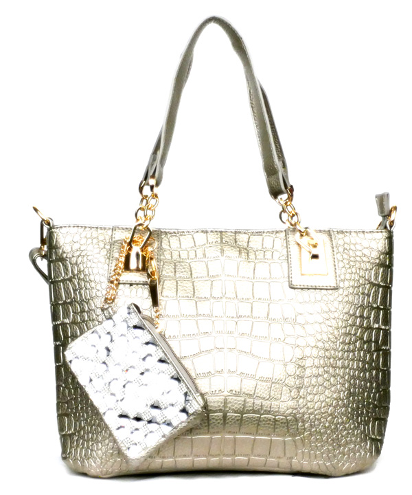 Crocodile Grey Fashion Handbag