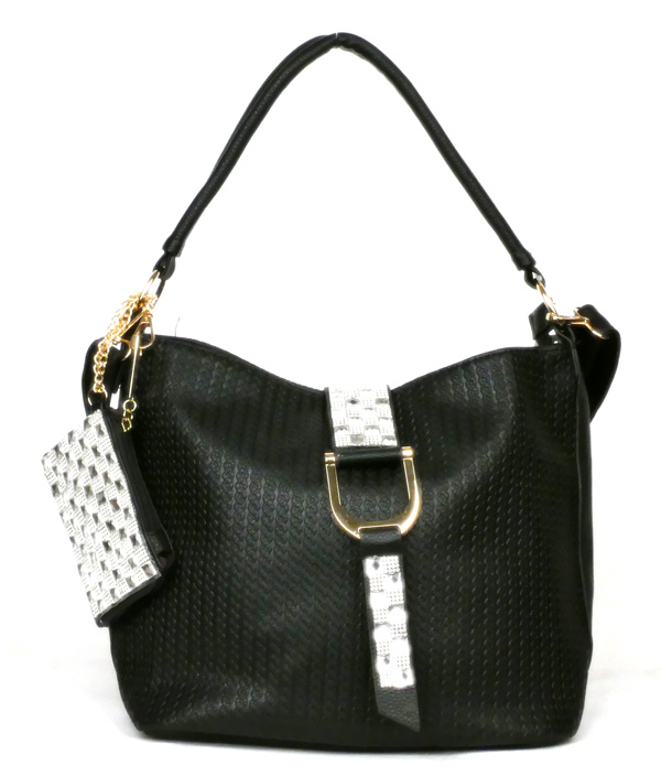 Flap Strap Black Fashion Handbag