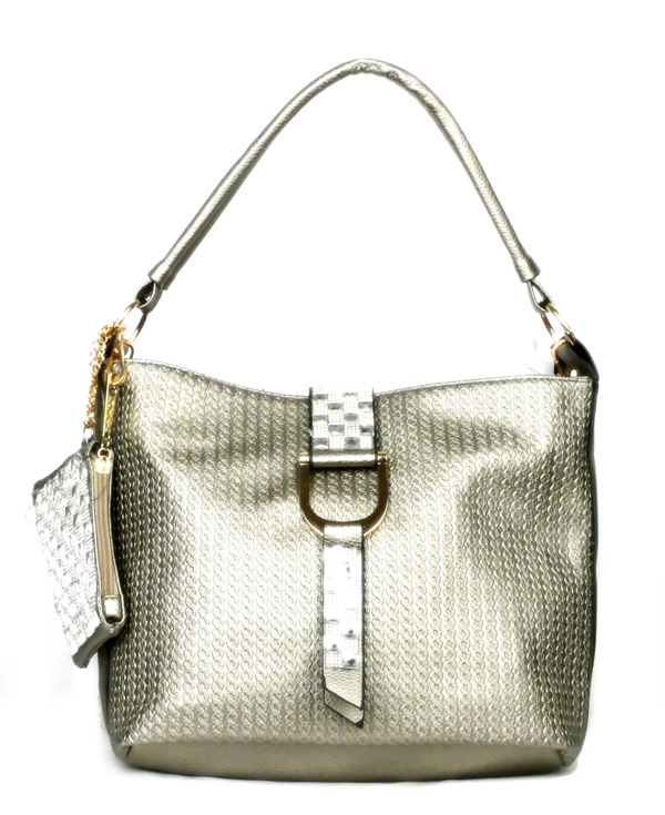 Flap Strap Grey Fashion Handbag